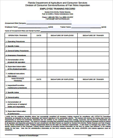 Sample Employee Record Form - 8+ Examples in Word, PDF - employee record form