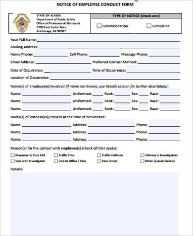 Employee Notice Form AEmployeeWarningNoticeXl Jpg Employee Warning