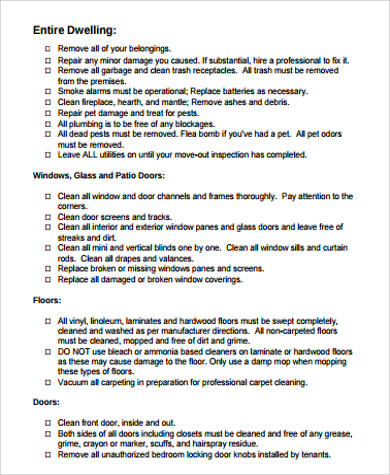 Printable Moving Checklist Sample - 10+ Examples in Word, PDF