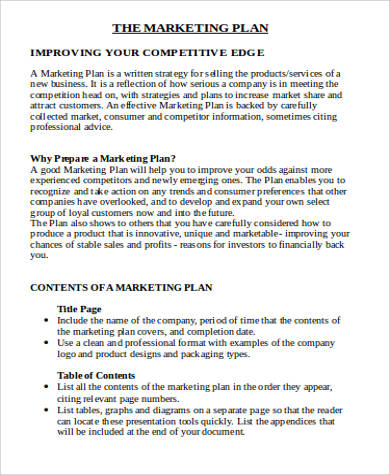 Sample Marketing Plan Template Word - 7+ Examples in Word, PDF