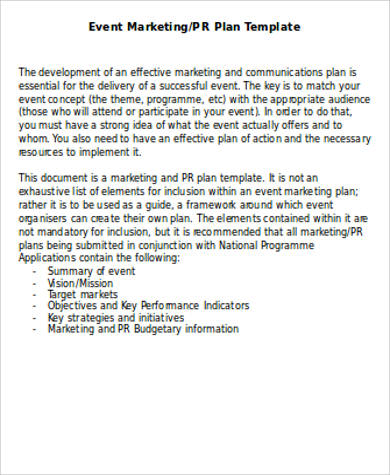 7+ Sample Marketing Plan Template Word Sample Templates