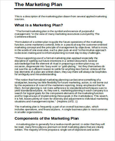 Marketing Plan Example Sample Marketing Plan Example Best Photos Of - marketing plan template word