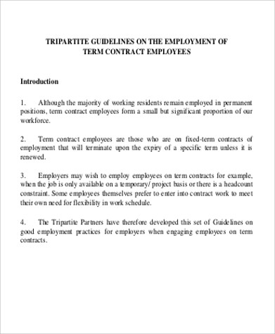 Employment Contract Sample  EnvResumeCloud