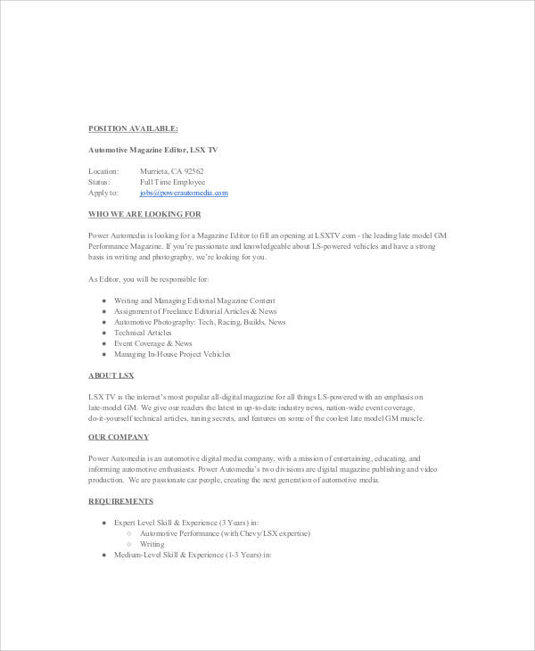 Digital Editor Job Description Digital Film Editing School New Digital Editor  Job Description   Film Editor