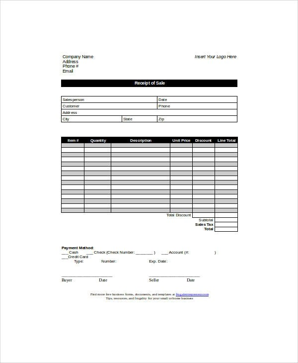 generic receipt template - Romeolandinez
