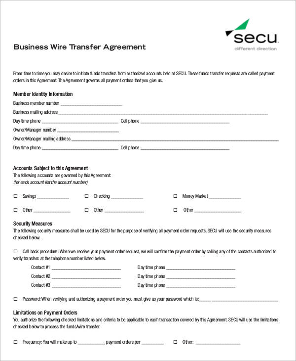 6+ Sample Business Transfer Agreements Sample Templates