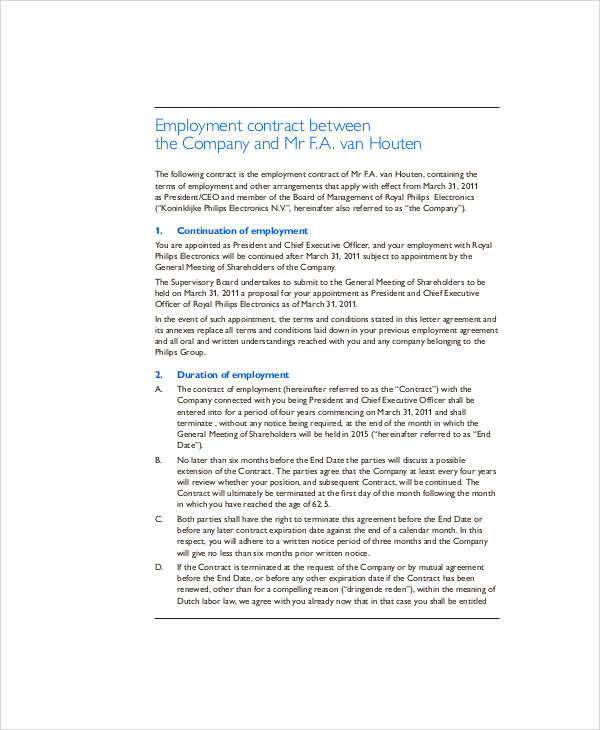 employment contract pdf - Paso.evolist.co
