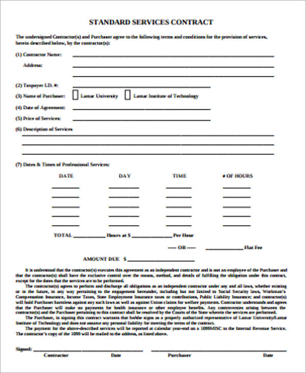 15+ Simple Service Contract Samples Sample Templates
