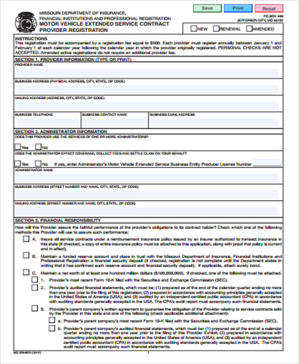 Sample Vehicle Service Contract - 7+ Examples in Word, PDF