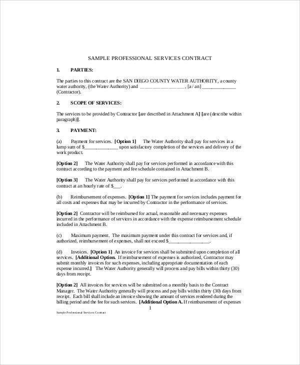 Service Contract Form Printable Sample Lawn Service Contract Form