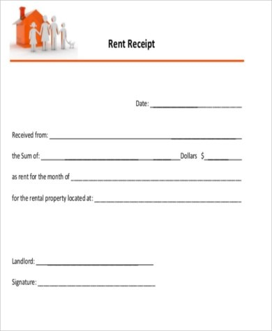 Sample Rent Receipt PDF - 8+ Examples in Word, PDF