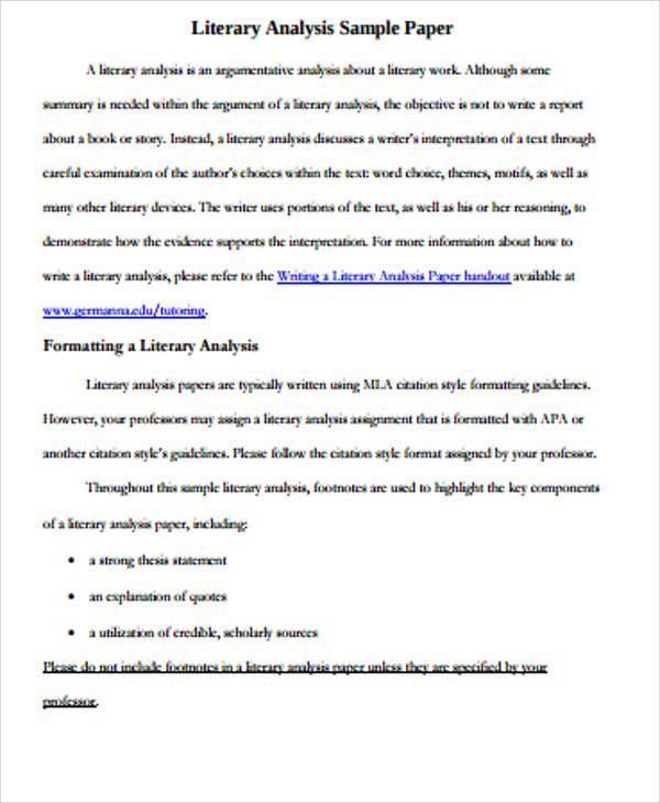 literary essay examples literary essay example 9 samples in word pdf - essay examples in literature