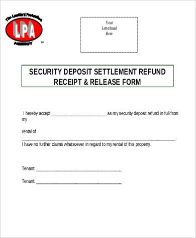 Sample Rent Deposit Receipt - 8+ Examples in Word, PDF