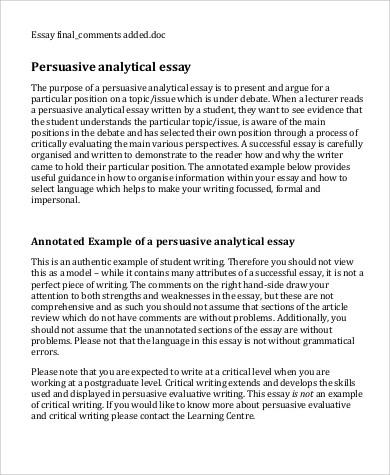 9+ Sample Analysis Essays Sample Templates - interpretation essay example