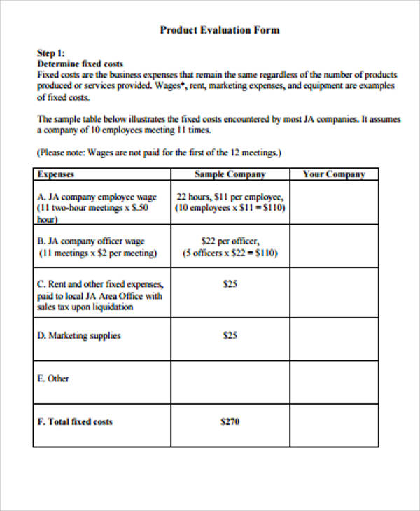 12+ Evaluation Form Samples Sample Templates - Meeting Evaluation Form