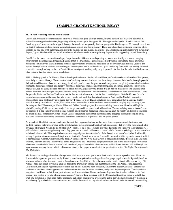 graduate school essays samples graduate school essays examples