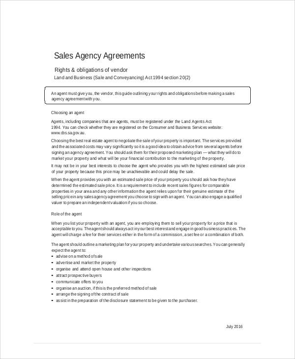 business sales agreement template trattorialeondoro - sales agent contracts