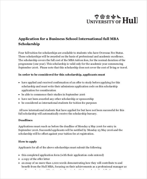 6+ Sample Scholarship Application Essays Sample Templates - scholarship application essay