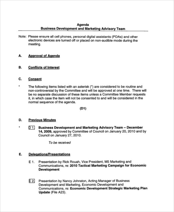 40 Agenda Examples Sample Templates