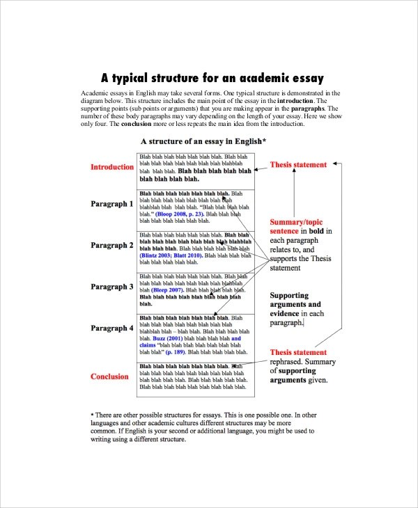 Academic Essay Sample - 7+ Examples in Word, PDF - academic essay