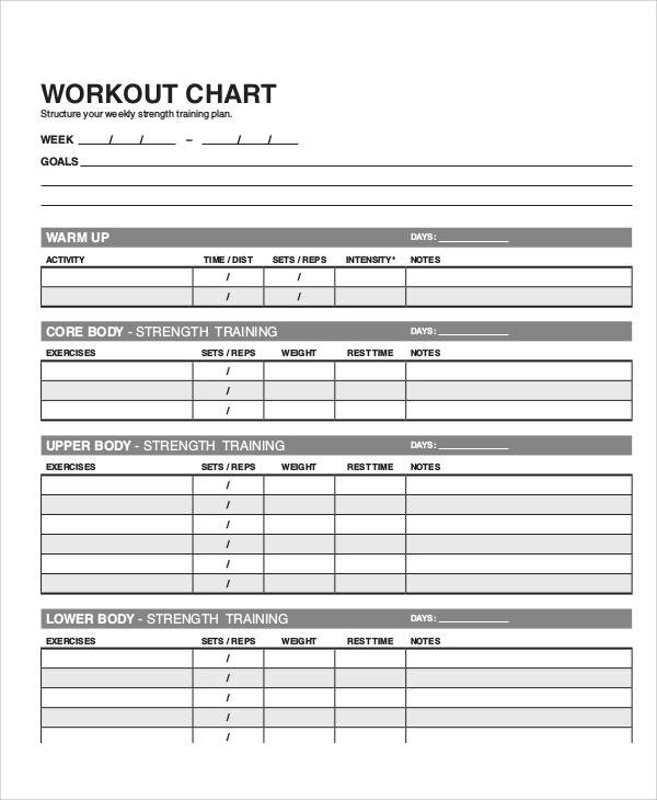 Sample Workout Program Sheet - 5+ Examples in Word, PDF - workout program sheet