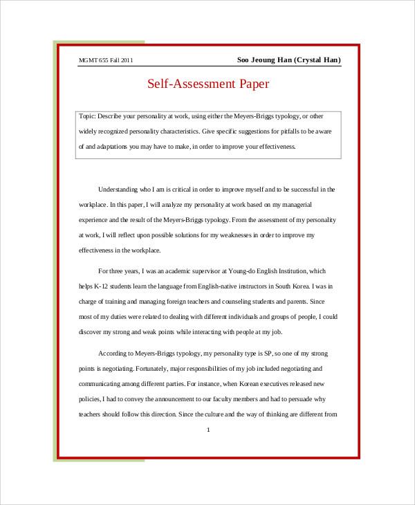 sample self evaluation essay - Ozilalmanoof