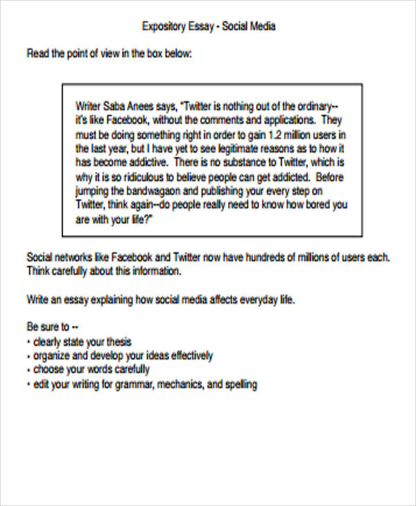 what is a expository essay examples
