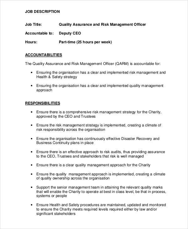 risk management job description - fototango