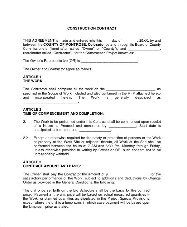 Sample Contract Agreement - 34+ Examples in Word, PDF