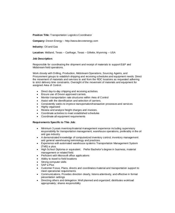 Beautician Job Description download beautician job description - logistics coordinator job description