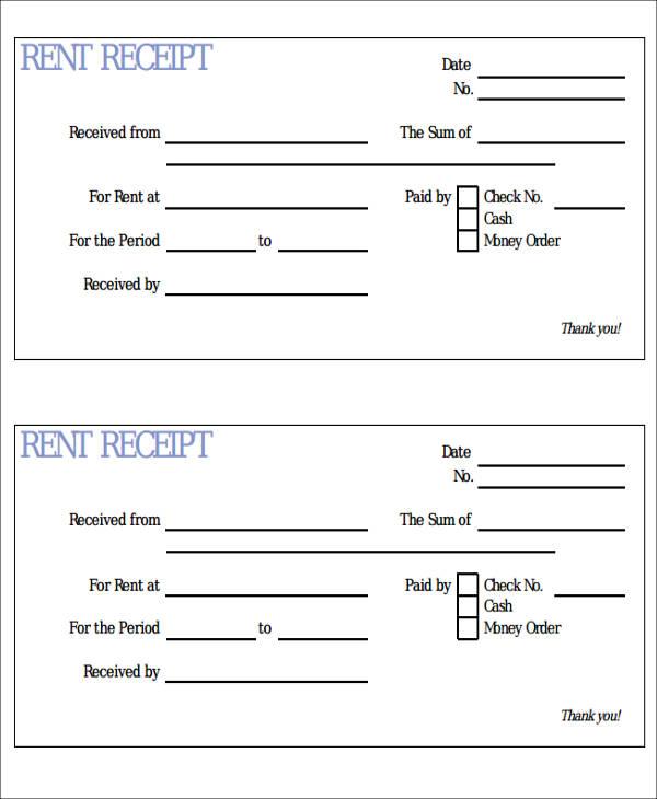 rent receipt document download