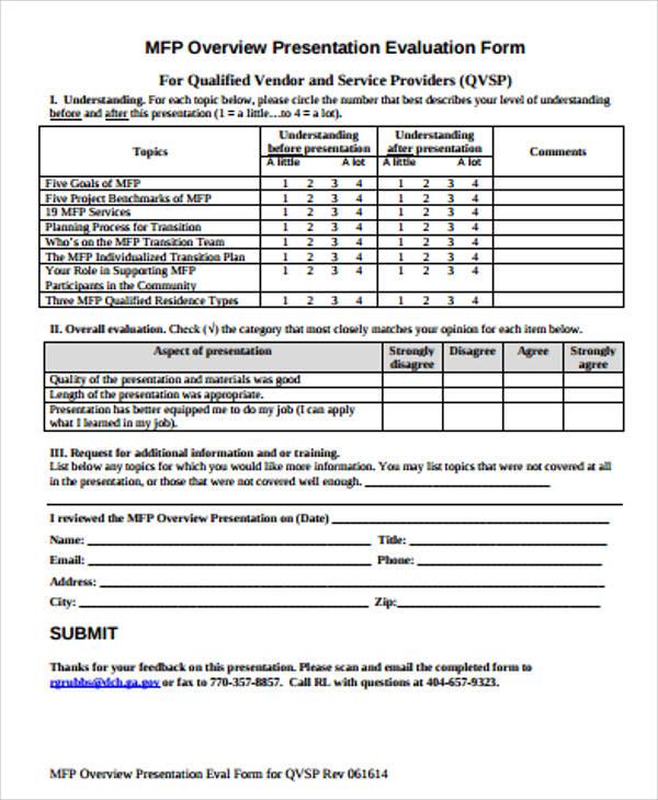 Presentation Evaluation Form In Pdf 30 Mediterranean Arabic - sample presentation evaluation form example