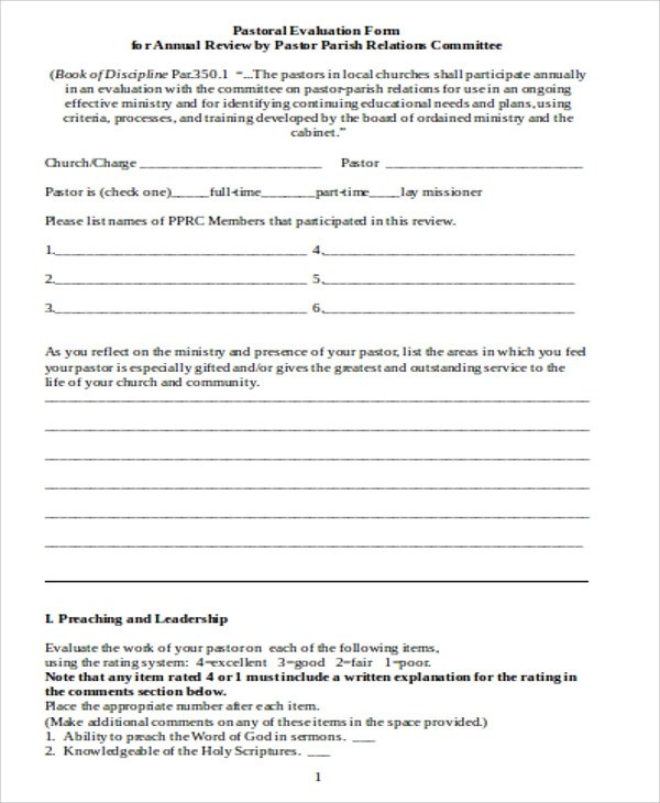 Leadership Evaluation Form Free Employee Performance Review - Meeting Evaluation Form