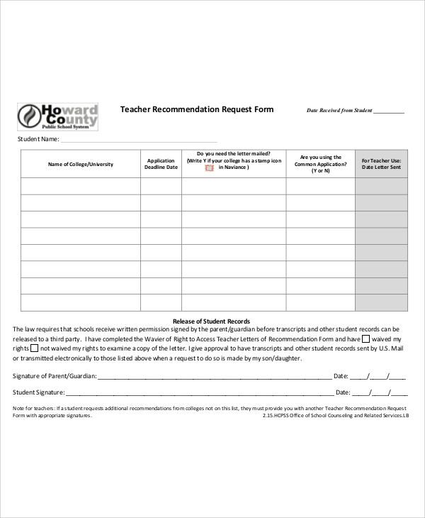 7+ Sample Recommendation Letter from Professor Sample Templates - recommendation letter request