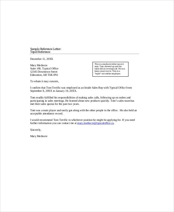 letter of recommendation for colleague
