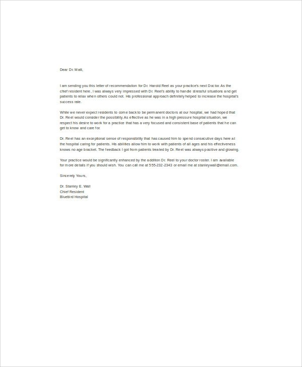 6+ Sample Recommendation Letter for Colleague Sample Templates - letter of recommendation for coworker