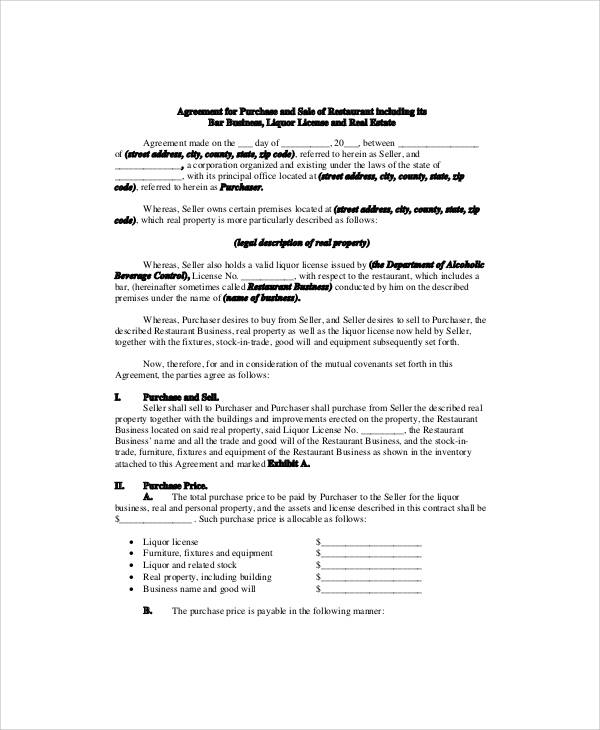 5+ Sample Business Sale Contracts Sample Templates - business sale contract