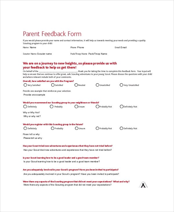 meeting feedback form - Teacheng