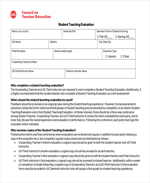 Sample Student Feedback Form in Doc - 8+ Examples in Word - seminar feedback form