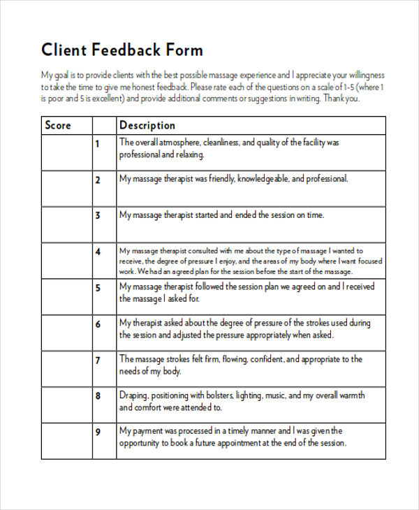 client feedback form in word - Teacheng - Client Feedback Form In Word