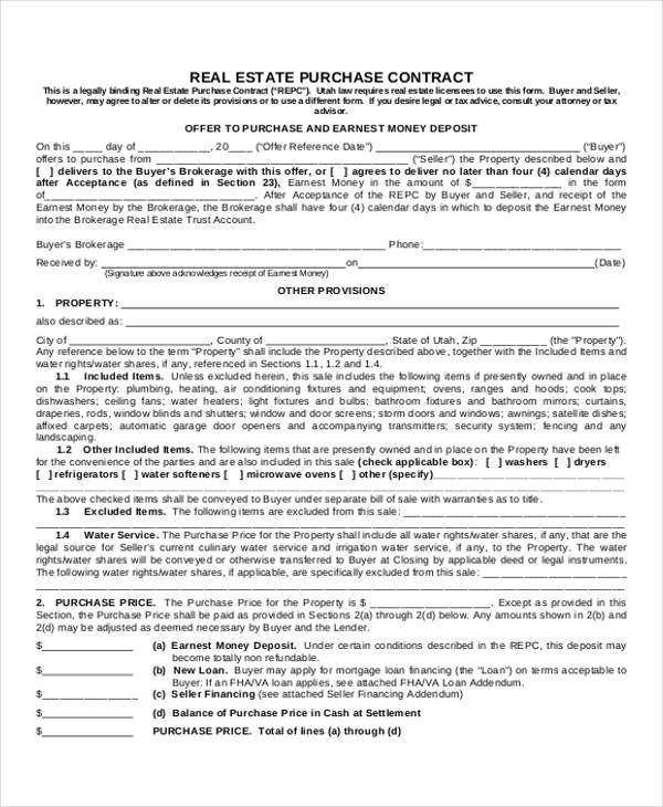 12+ Sample House Sale Contracts Sample Templates