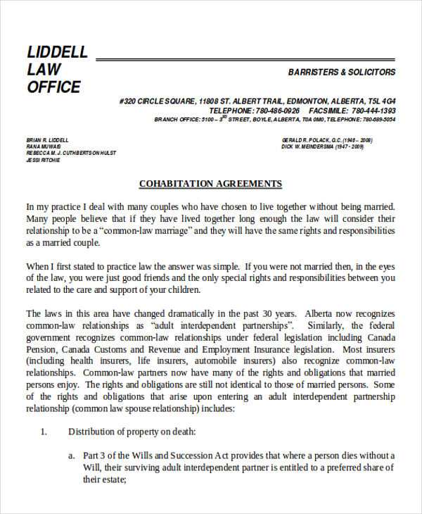Common Law Separation Agreement Template Bc Images - Template Design