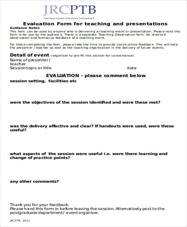 Sample Observation Feedback Form 10+ Examples In Word, PDF Event Feedback .