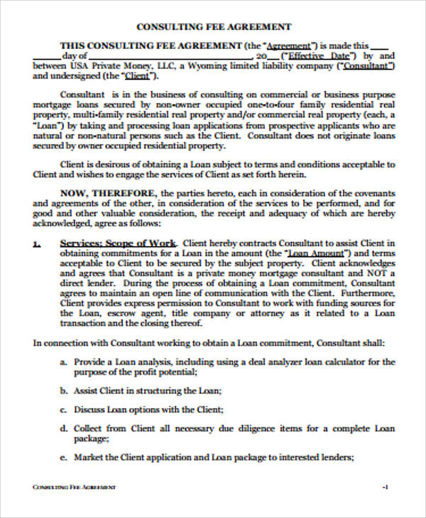 Simple Consulting Agreement Sample - 12+ Examples in Word, PDF