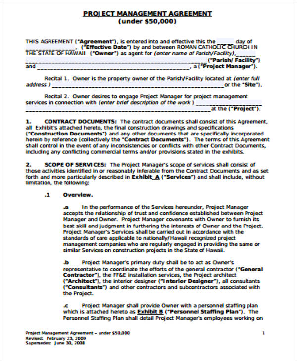 management consulting agreement – Standard Consulting Agreement