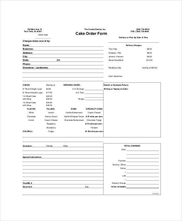 Sample Free Printable Order Form - 9+ Examples in Word, PDF