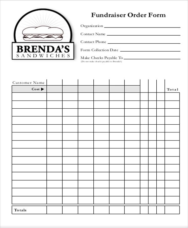 Sample Fund-raiser Order Form - 9+ Examples in Word, PDF