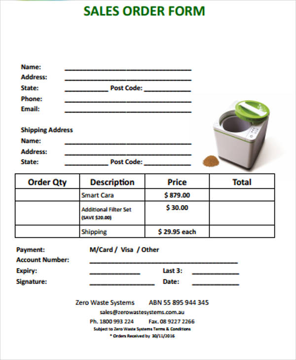 Simple Order Form
