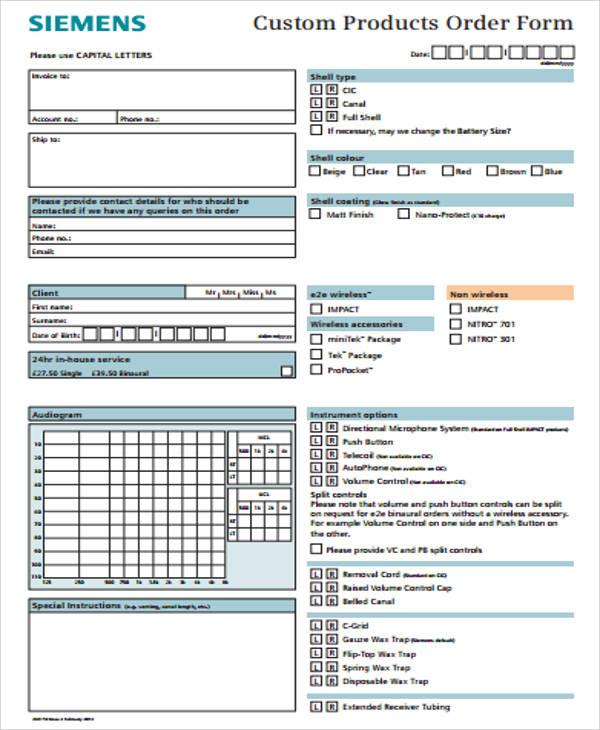 12+ Sample Custom Order Forms Sample Templates