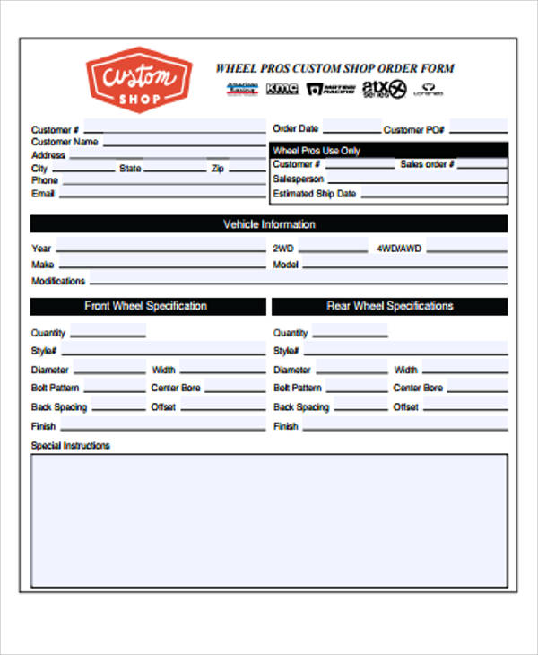 purchase order form pdf